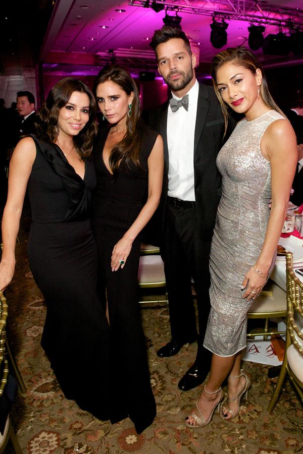 Eva Longoria, Victoria Beckham, Ricky Martin and Nicole Scherzinger